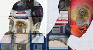 Nick Gentry: Floppy Disk Portraits