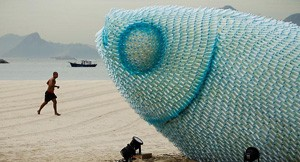 Giant Fish Made From Plastic Bottles
