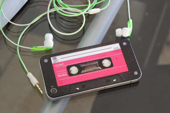 Retro Cassette Decal for iPhone 4