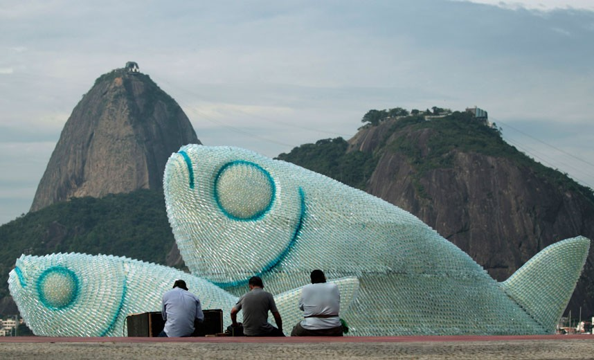 Plastic Bottle Sculptures