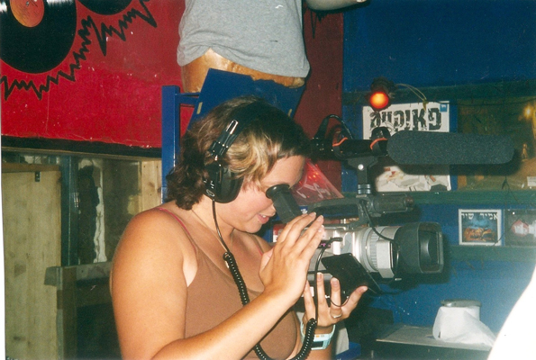 "Liz shooting ""Jericho's Echo"" in 2003"